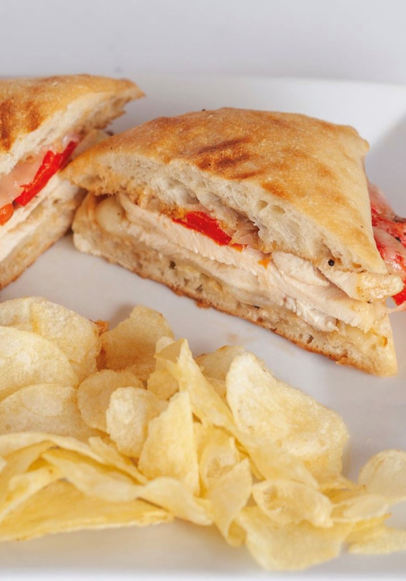 Grilled Chicken with Roasted Red Peppers Panini